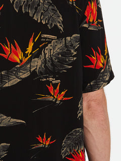 Floral Erupter Short Sleeve - Black (A0432001_BLK) [3]