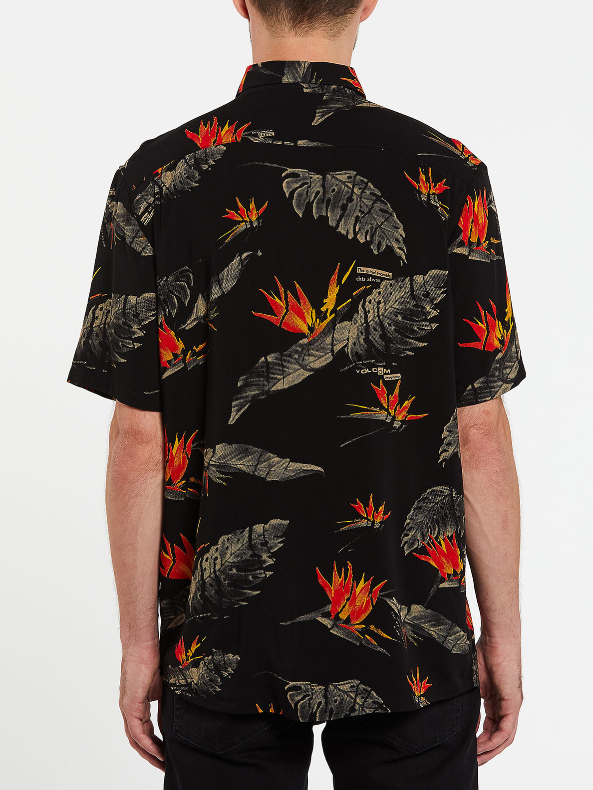 Floral Erupter Short Sleeve - Black (A0432001_BLK) [B]