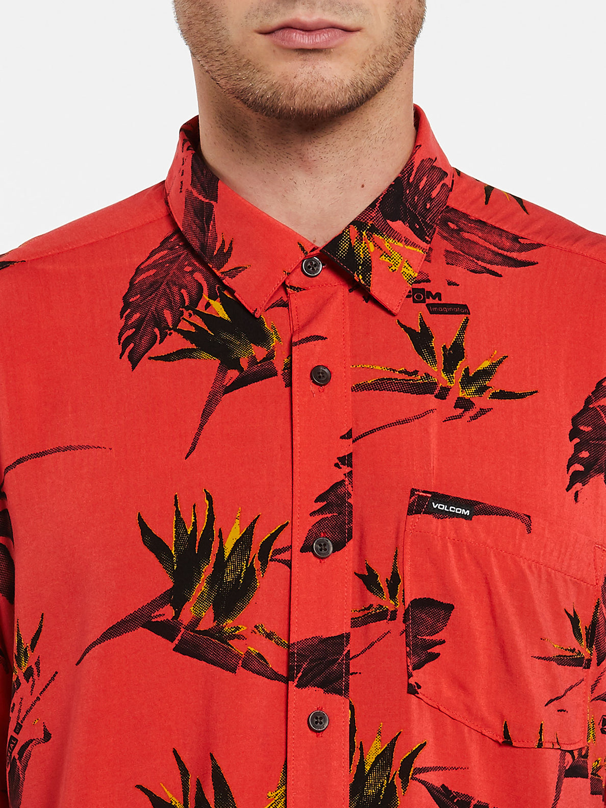 Floral Erupter Short Sleeve - Lava Rock Red (A0432001_LRR) [1]