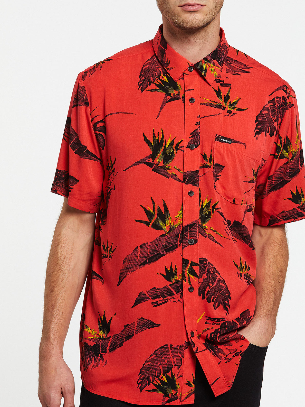 Floral Erupter Short Sleeve - Lava Rock Red (A0432001_LRR) [2]