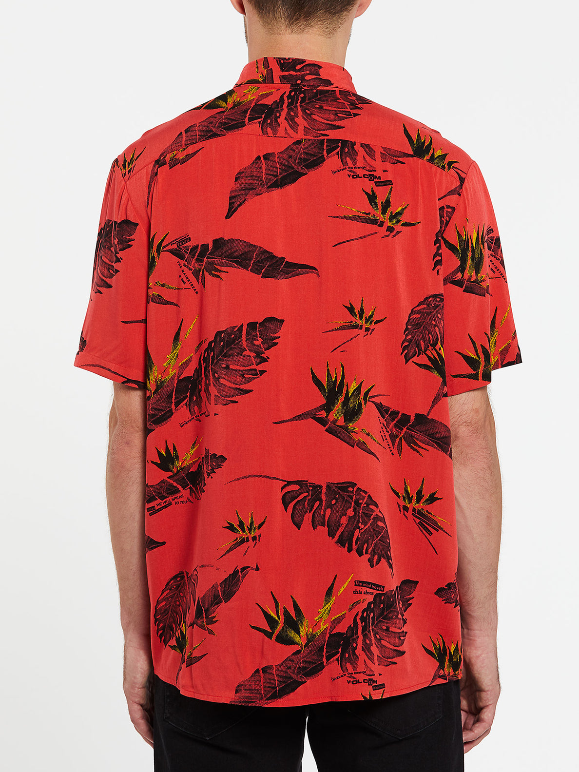 Floral Erupter Short Sleeve - Lava Rock Red (A0432001_LRR) [B]