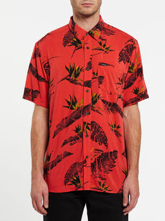 Floral Erupter Short Sleeve - Lava Rock Red (A0432001_LRR) [F]