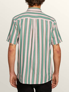 The Bold Stripe Short Sleeve Shirt In Deep Sea, Back View