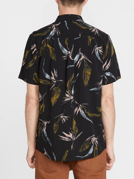 Faxer Floral Short Sleeve - Black (A0441900_BLK) [B]
