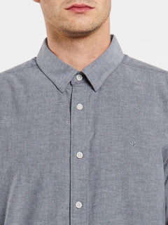Oxford Stretch Long Sleeve Shirt - Black (A0511801_BLK) [1]