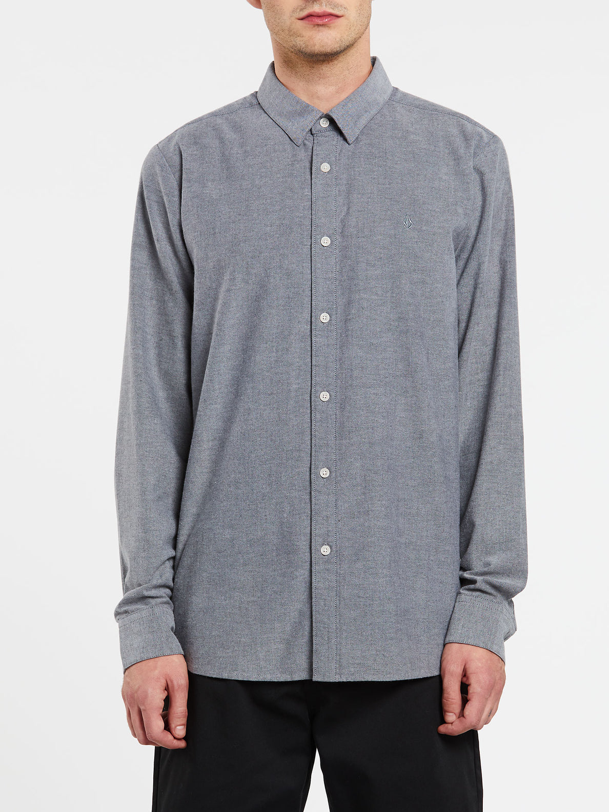 Oxford Stretch Long Sleeve Shirt - Black (A0511801_BLK) [F]