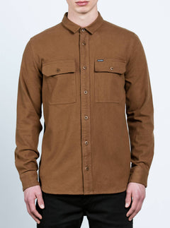 Ketil Long Sleeve Shirt In Mud, Front View