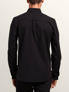 Hayes Long Sleeve Shirt In Black, Back View
