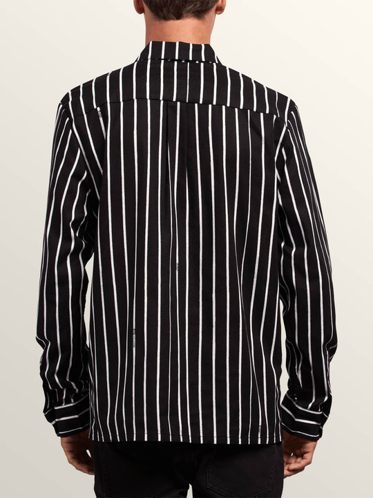 Noa Noise Long Sleeve Shirt In Black, Back View