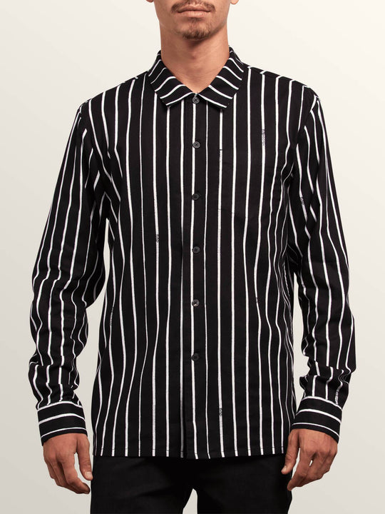 Noa Noise Long Sleeve Shirt In Black, Front View