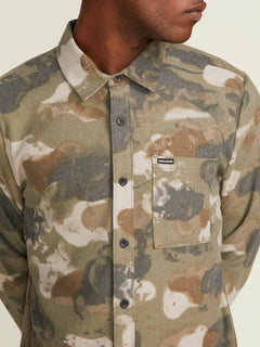 Dragstone Long Sleeve Shirt In Camouflage, Alternate View