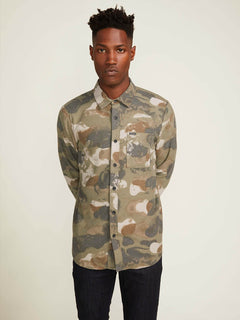 Dragstone Long Sleeve Shirt In Camouflage, Second Alternate View