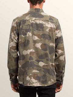 Dragstone Long Sleeve Shirt In Camouflage, Back View