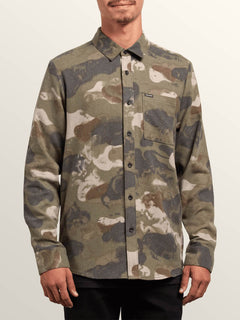 Dragstone Long Sleeve Shirt In Camouflage, Front View