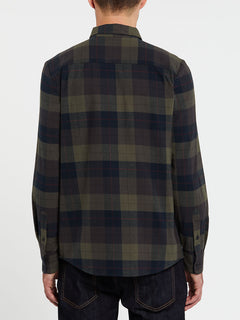 Caden Plaid Long Sleeve  Flannel - Army Green Combo (A0532005_ARC) [B]