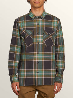 Randower Long Sleeve Flannel In Deep Sea, Front View