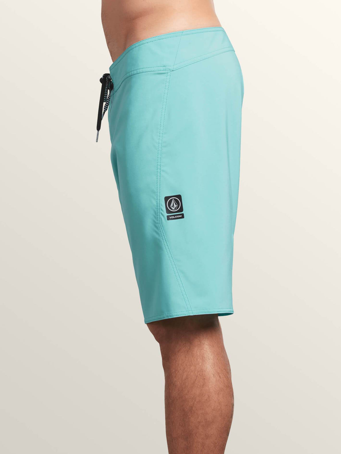 Lido Solid Mod Boardshorts In Bright Turquoise, Alternate View