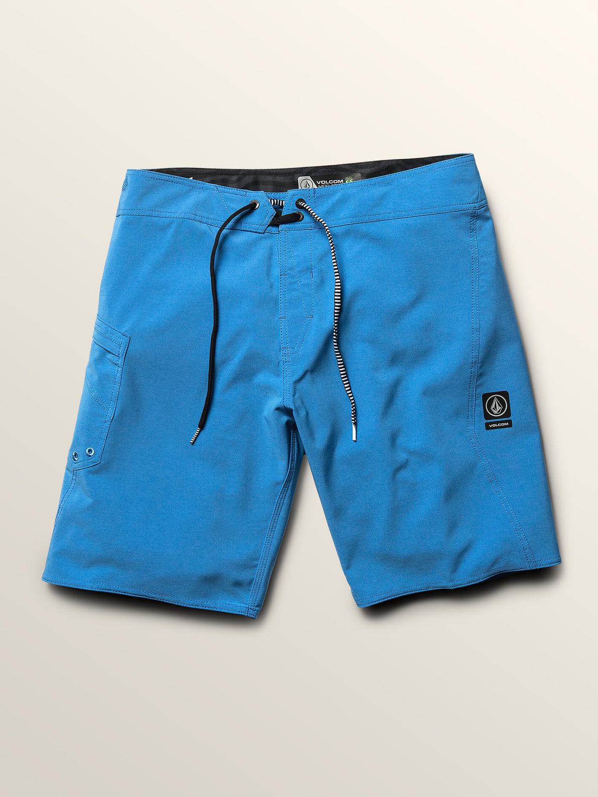 Lido Solid Mod Boardshorts In Free Blue, Third Alternate View