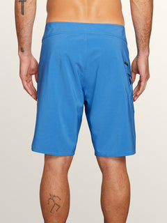Lido Solid Mod Boardshorts In Free Blue, Back View