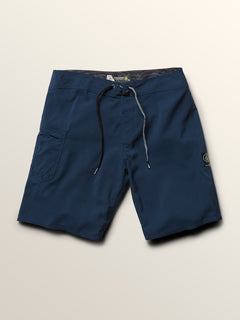 Lido Solid Mod Boardshorts In Melindigo, Third Alternate View