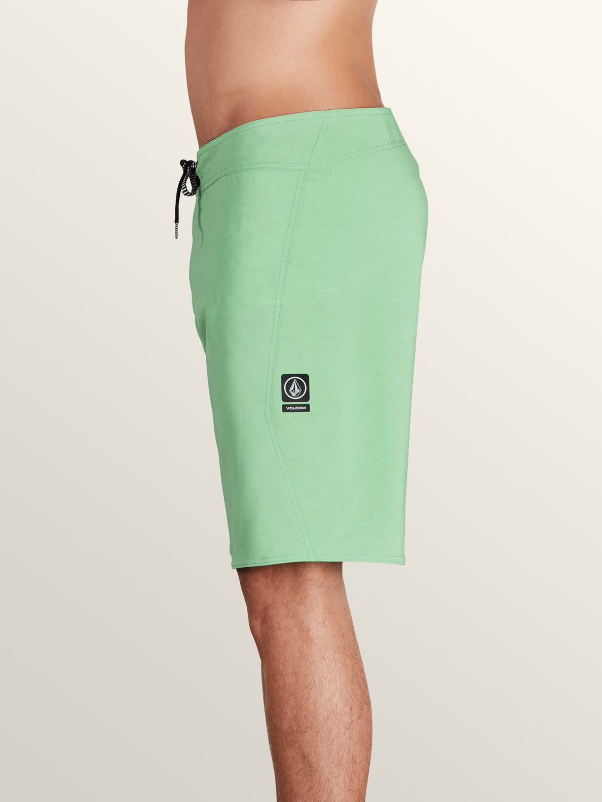 Lido Solid Mod Boardshorts In Poison Green, Alternate View