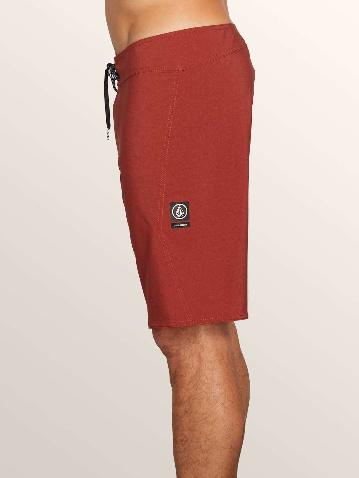 Lido Solid Mod Boardshorts In Rust, Alternate View