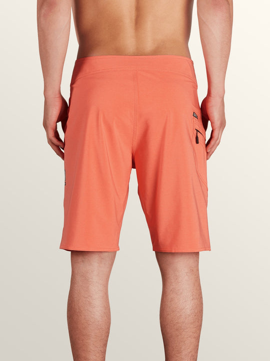 Lido Solid Mod Boardshorts In Twisted Orange, Back View