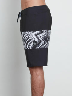Macaw Mod Boardshorts In Black, Alternate View