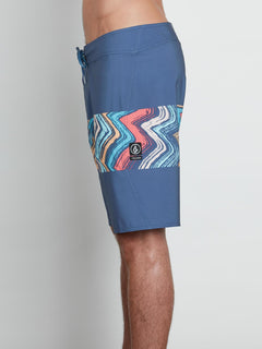Macaw Mod Boardshorts In Deep Blue, Alternate View