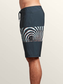 Macaw Mod Boardshorts In Midnight Blue, Alternate View