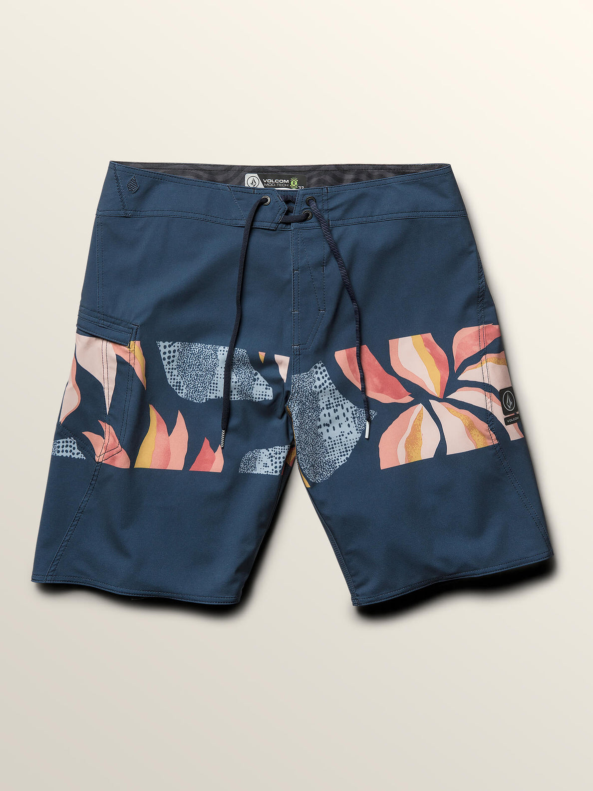Macaw Mod Boardshorts In Melindigo, Third Alternate View
