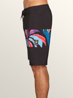 Macaw Mod Boardshorts In New Black, Alternate View