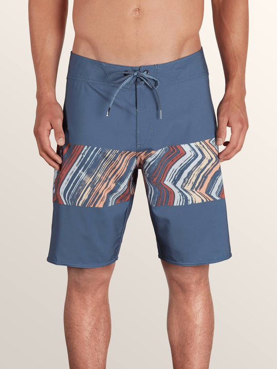 Macaw Mod Boardshorts In Sunburst, Front View