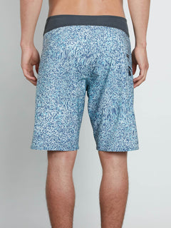 Plasm Mod Boardshorts In Blue Bird, Back View