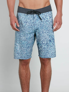 Plasm Mod Boardshorts In Blue Bird, Front View