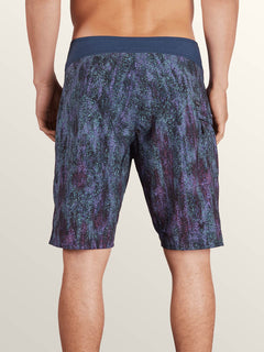 Plasm Mod Boardshorts In Indigo, Back View