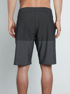Lido Heather Mod Boardshorts In Black, Back View