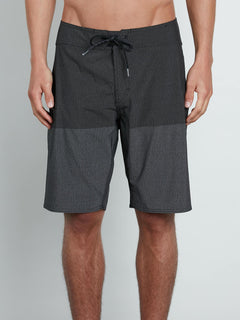 Lido Heather Mod Boardshorts In Black, Front View