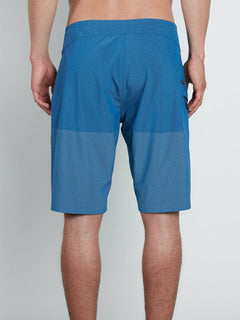 Lido Heather Mod Boardshorts In Camper Blue, Back View