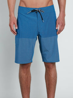 Lido Heather Mod Boardshorts In Camper Blue, Front View