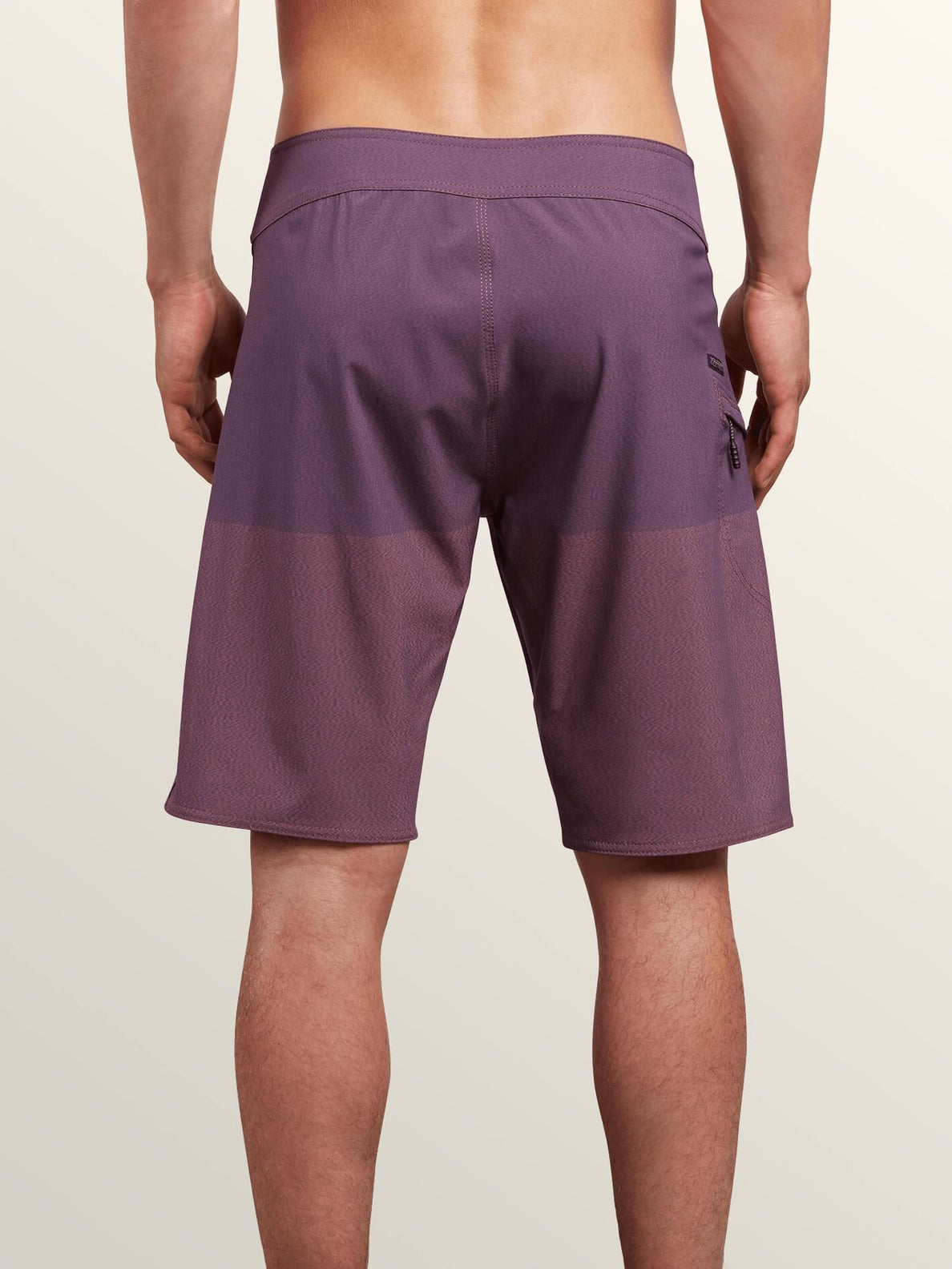 Lido Heather Mod Boardshorts In Deep Blue, Back View
