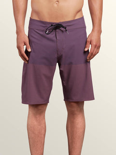 Lido Heather Mod Boardshorts In Deep Blue, Front View