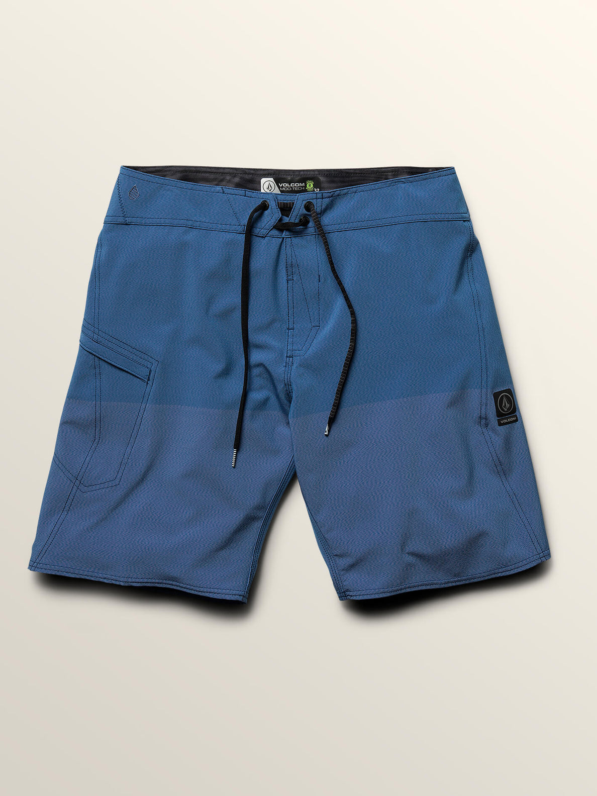 Lido Heather Mod Boardshorts In Jasper Blue, Third Alternate View