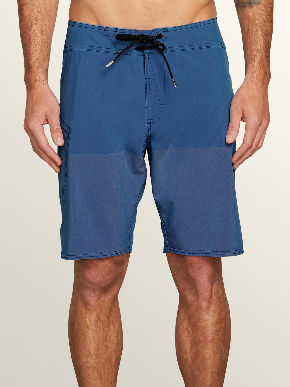 Lido Heather Mod Boardshorts In Jasper Blue, Front View