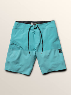 Lido Heather Mod Boardshorts In Neon Blue, Third Alternate View
