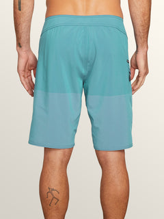 Lido Heather Mod Boardshorts In Neon Blue, Back View