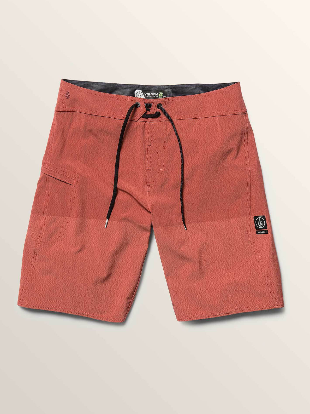 Lido Heather Mod Boardshorts In Orange Glow, Second Alternate View