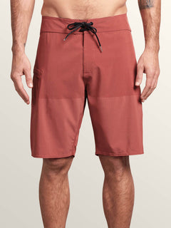 Lido Heather Mod Boardshorts In Orange Glow, Front View
