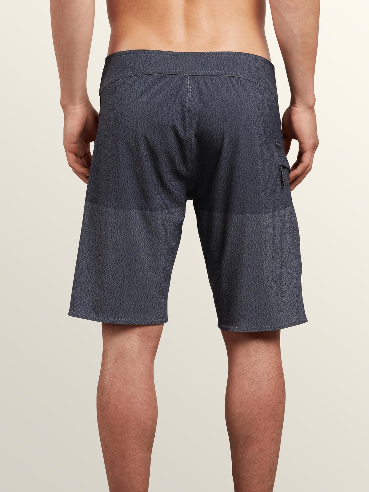 Lido Heather Mod Boardshorts In Smokey Blue, Back View
