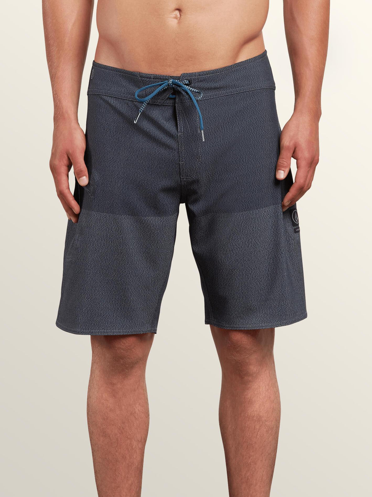Lido Heather Mod Boardshorts In Smokey Blue, Front View